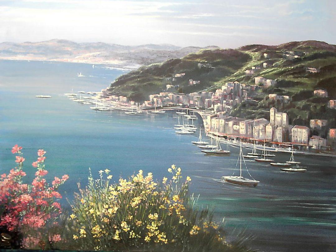 Italien, Öl auf Leinwand, Anneliese Ladas