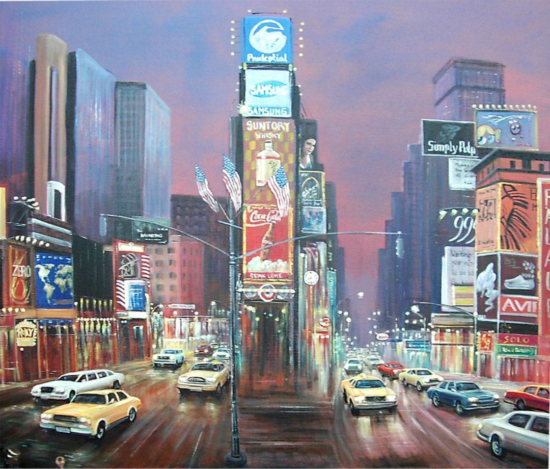 New York, Öl auf Leinwand, Anneliese Ladas