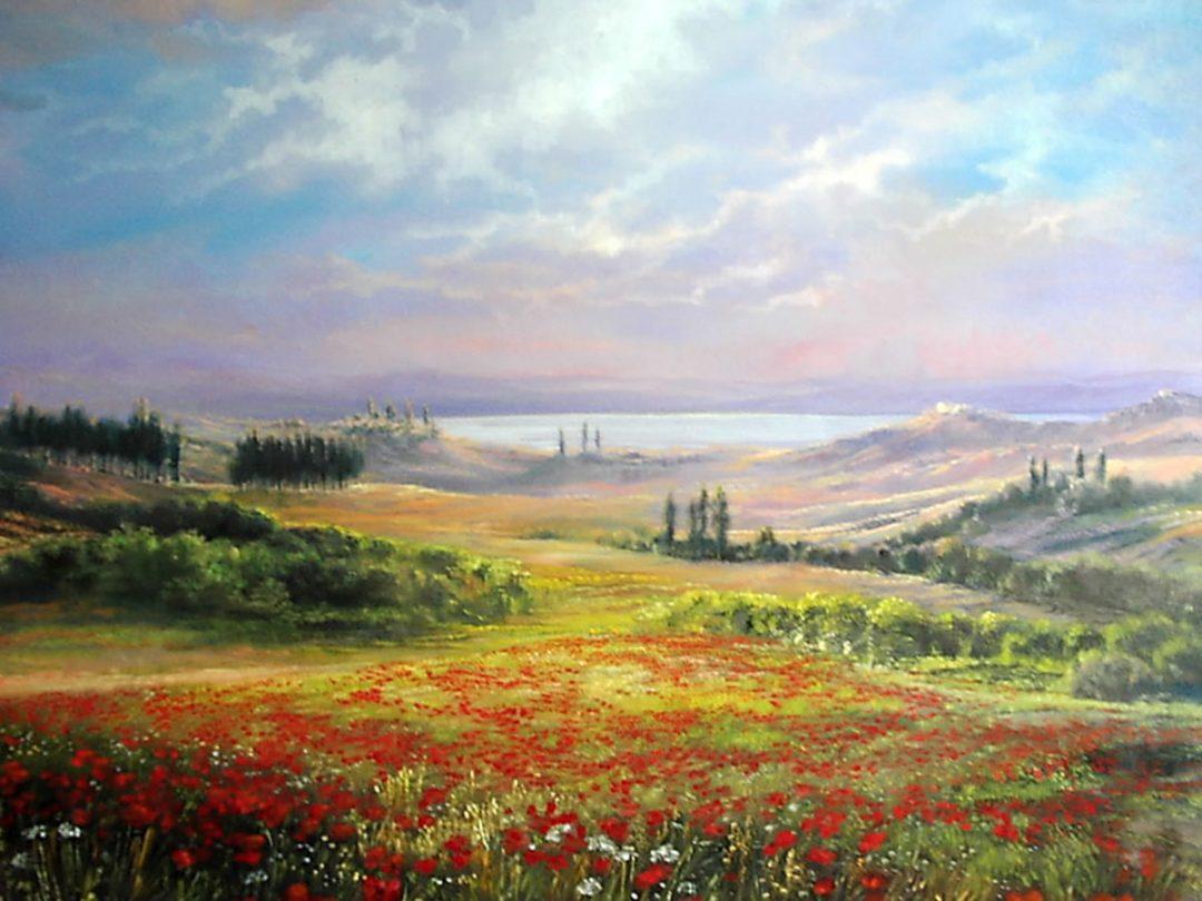 Anneliese Ladas, Öl auf Leinwand, Toskana 03